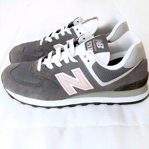 New Balance 574 Sneakers Castlerock w/ Oyster Pink